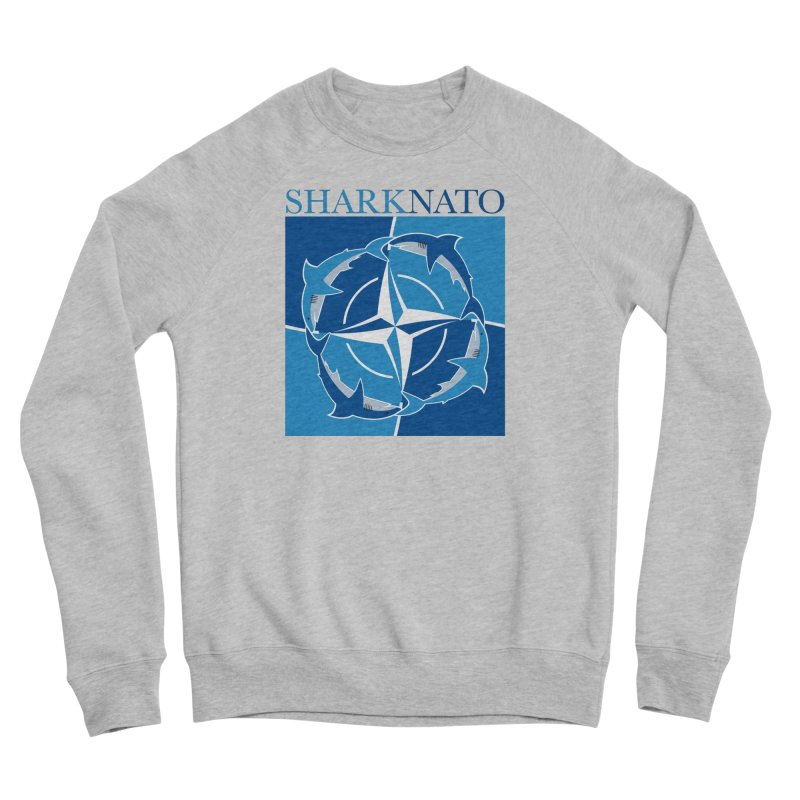 Shark-NATO Men's Sponge Fleece Sweatshirt by Puttyhead's Artist Shop