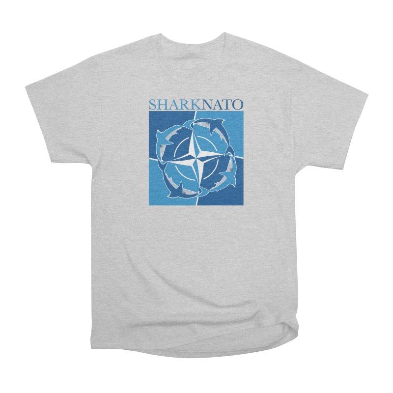 Shark-NATO Women's Heavyweight Unisex T-Shirt by Puttyhead's Artist Shop