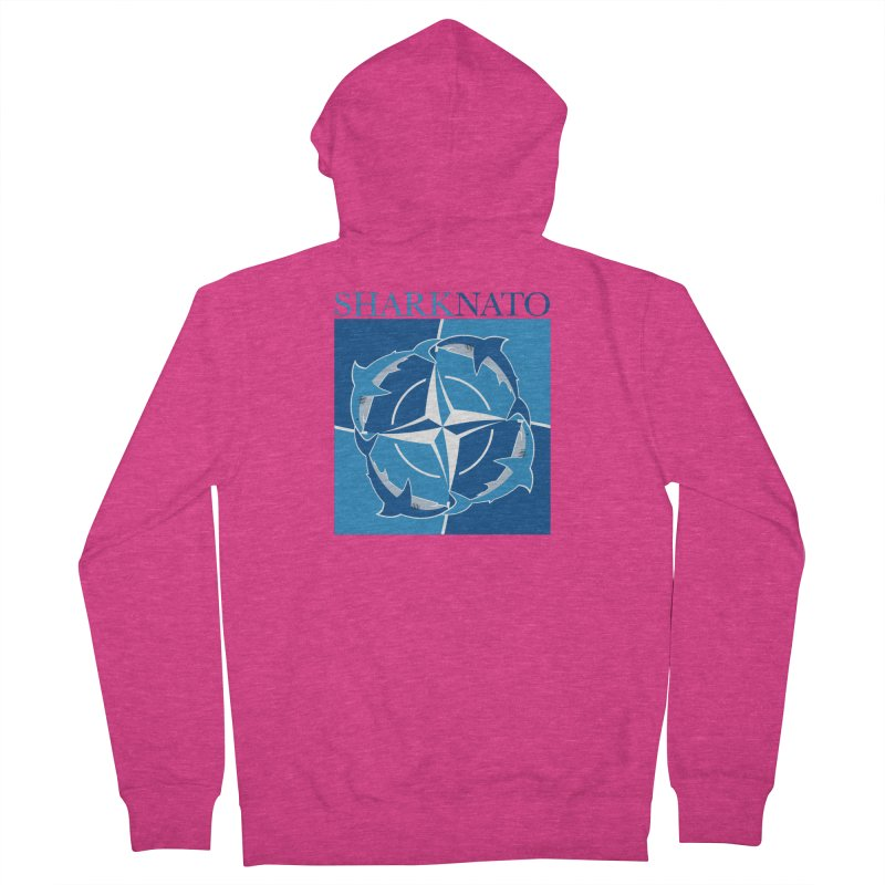 Shark-NATO Women's French Terry Zip-Up Hoody by Puttyhead's Artist Shop