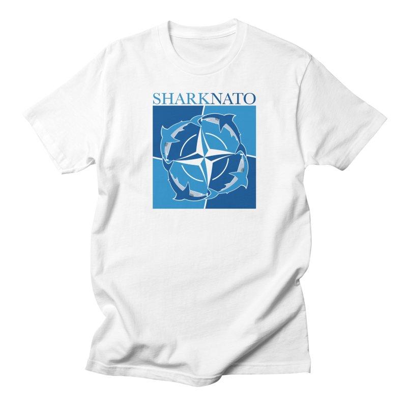 Shark-NATO Women's Regular Unisex T-Shirt by Puttyhead's Artist Shop