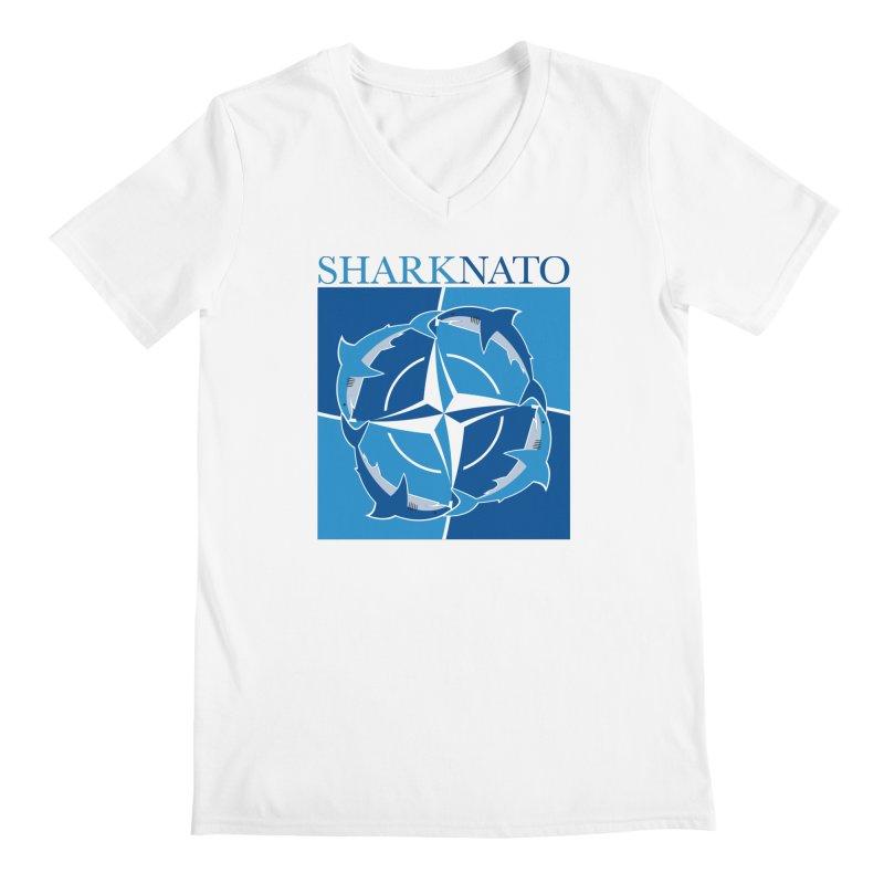 Shark-NATO Men's Regular V-Neck by Puttyhead's Artist Shop