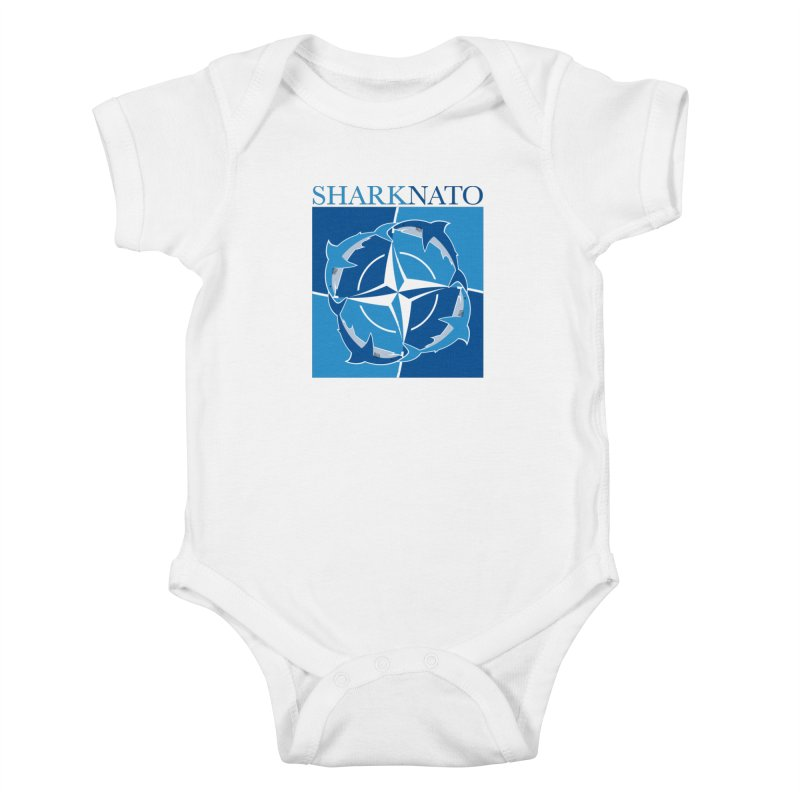 Shark-NATO Kids Baby Bodysuit by Puttyhead's Artist Shop