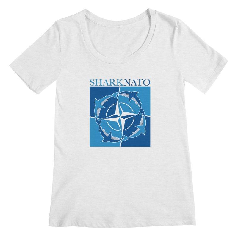 Shark-NATO Women's Regular Scoop Neck by Puttyhead's Artist Shop