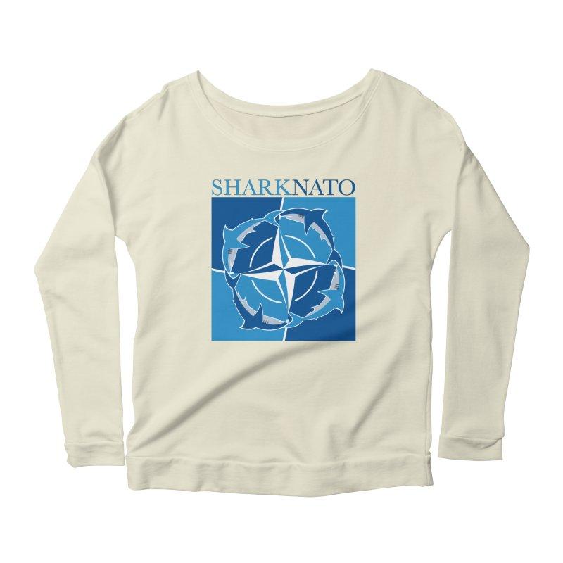 Shark-NATO Women's Scoop Neck Longsleeve T-Shirt by Puttyhead's Artist Shop