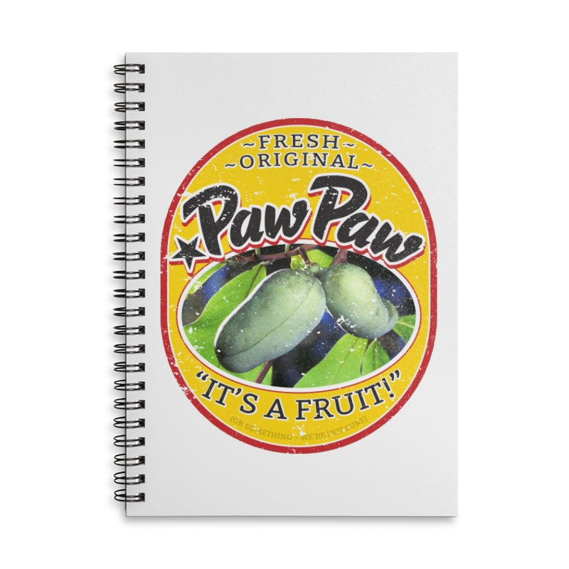 Paw Paw Accessories Lined Spiral Notebook by Puttyhead's Artist Shop