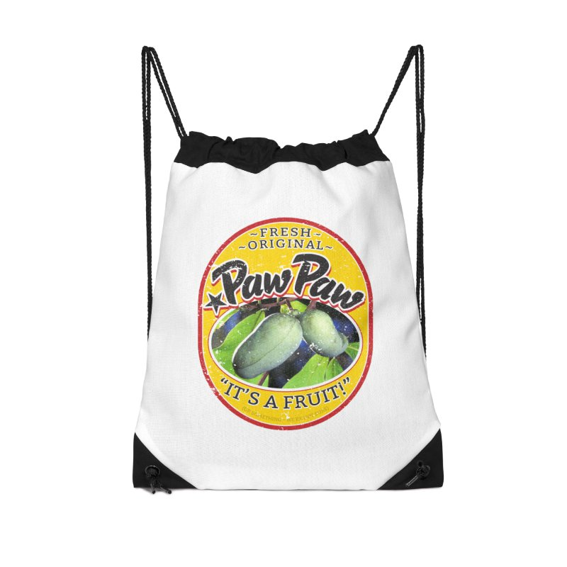 Paw Paw Accessories Drawstring Bag Bag by Puttyhead's Artist Shop