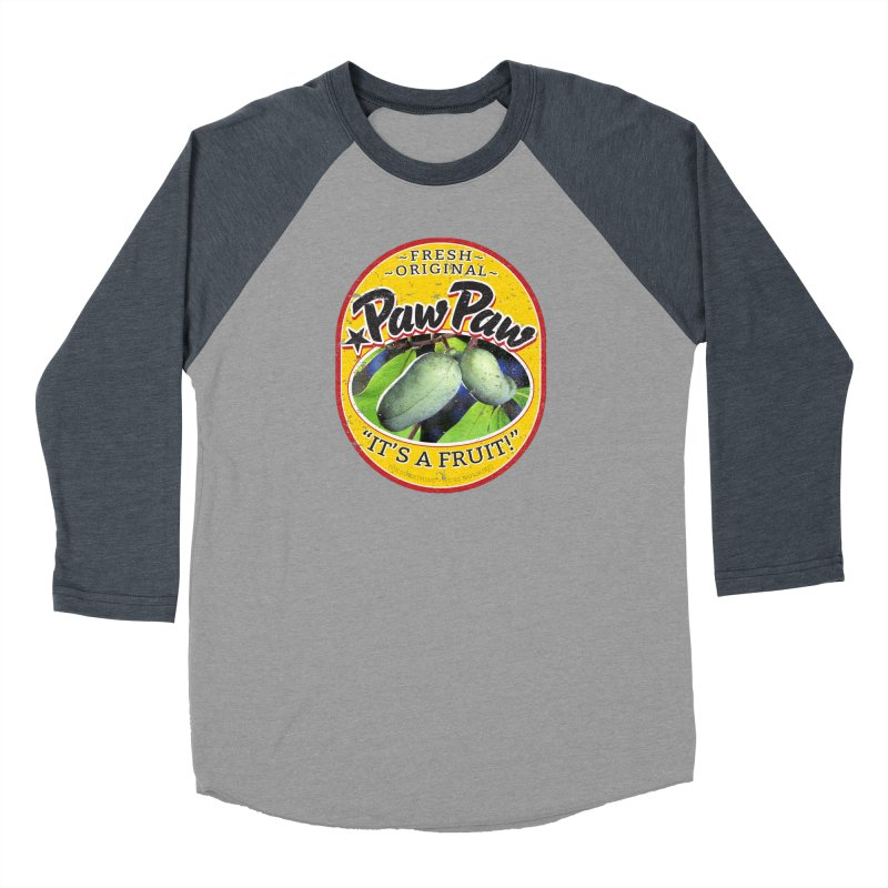 Paw Paw Women's Baseball Triblend Longsleeve T-Shirt by Puttyhead's Artist Shop