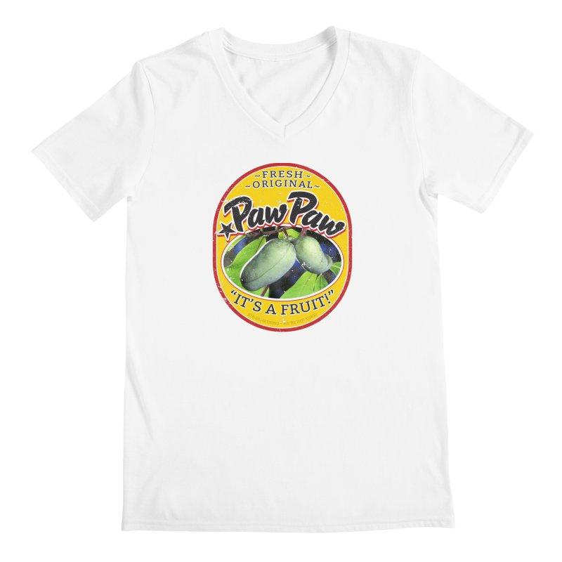 Paw Paw Men's Regular V-Neck by Puttyhead's Artist Shop