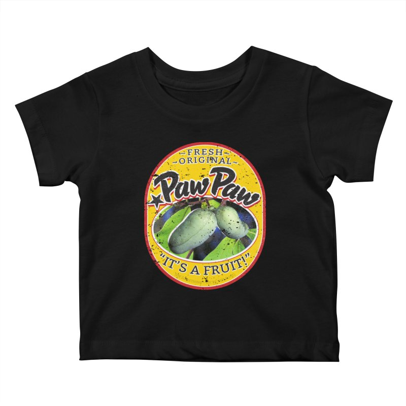 Paw Paw Kids Baby T-Shirt by Puttyhead's Artist Shop