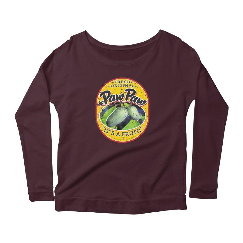 Paw Paw Women's Scoop Neck Longsleeve T-Shirt by Puttyhead's Artist Shop