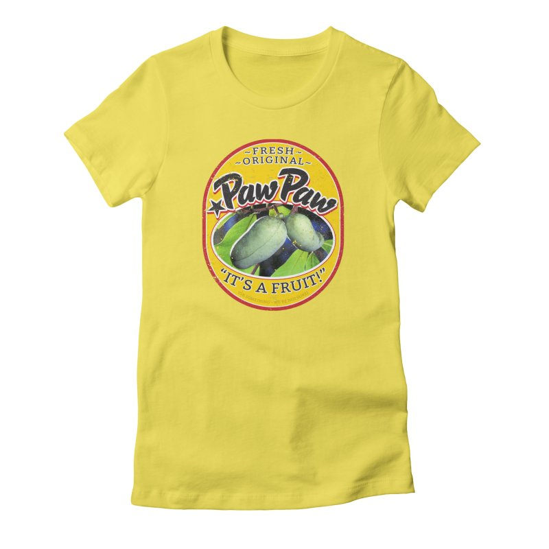 Paw Paw Women's Fitted T-Shirt by Puttyhead's Artist Shop
