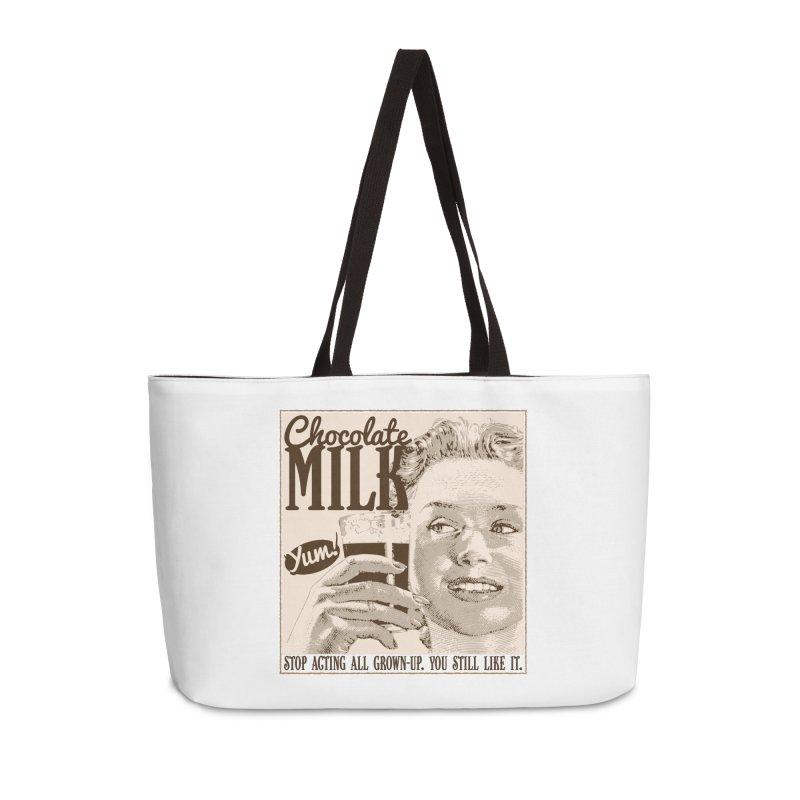 Chocolate Milk! Accessories Weekender Bag Bag by Puttyhead's Artist Shop