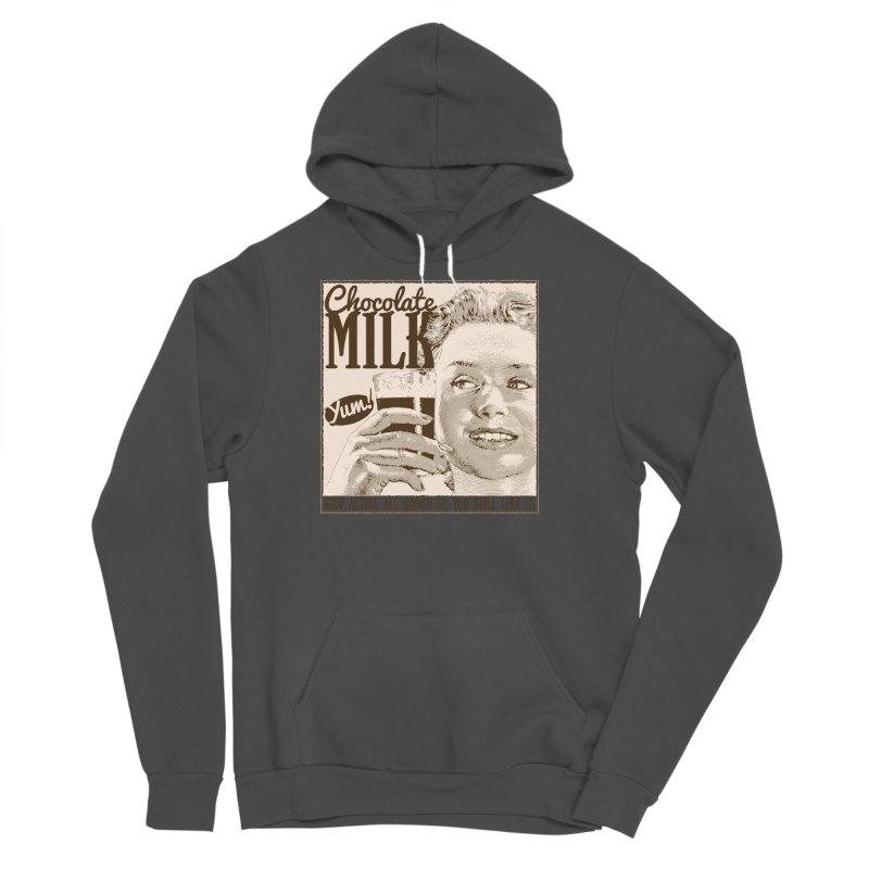 Chocolate Milk! Men's Sponge Fleece Pullover Hoody by Puttyhead's Artist Shop