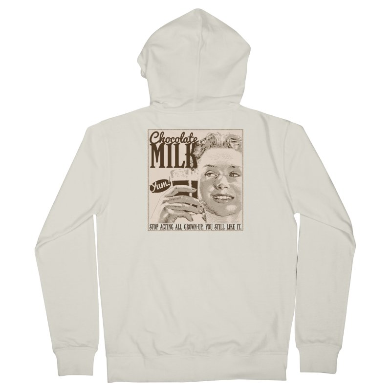 Chocolate Milk! Women's French Terry Zip-Up Hoody by Puttyhead's Artist Shop