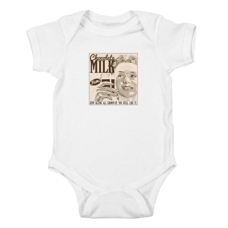 Chocolate Milk! Kids Baby Bodysuit by Puttyhead's Artist Shop