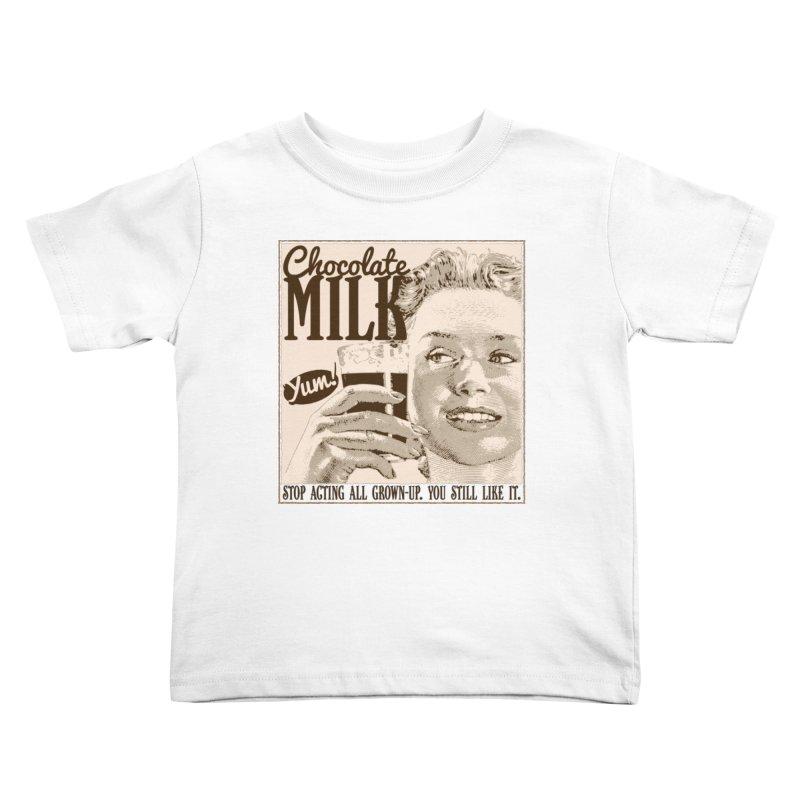 Chocolate Milk! Kids Toddler T-Shirt by Puttyhead's Artist Shop