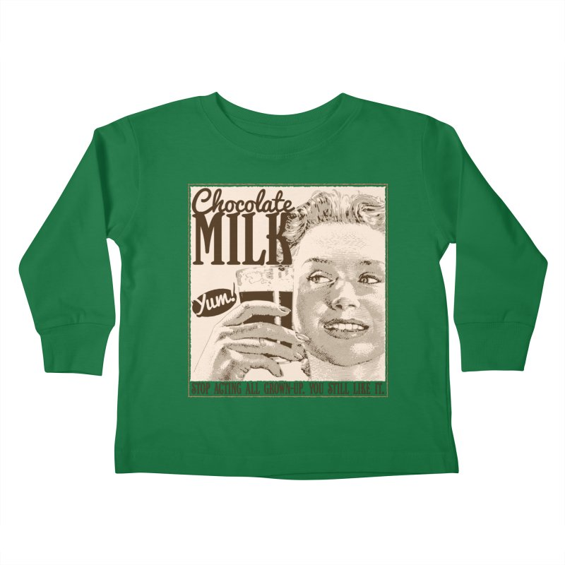 Chocolate Milk! Kids Toddler Longsleeve T-Shirt by Puttyhead's Artist Shop