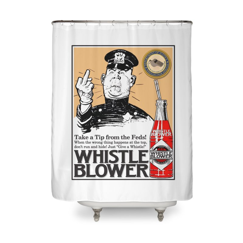 Whistle Blower! Home Shower Curtain by Puttyhead's Artist Shop