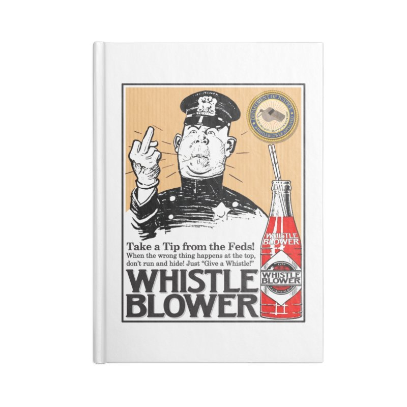 Whistle Blower! Accessories Lined Journal Notebook by Puttyhead's Artist Shop