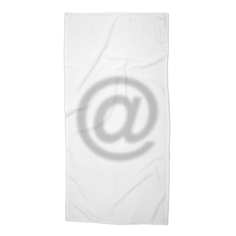 At - Blurry Accessories Beach Towel by Puttyhead's Artist Shop