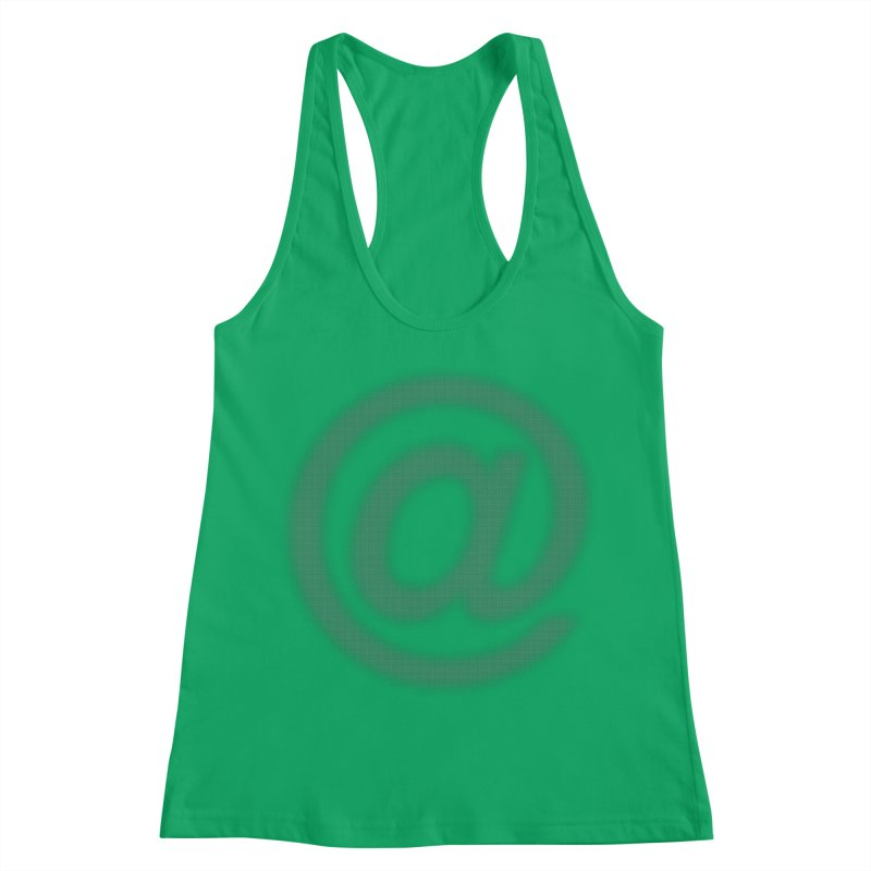 At - Blurry Women's Racerback Tank by Puttyhead's Artist Shop