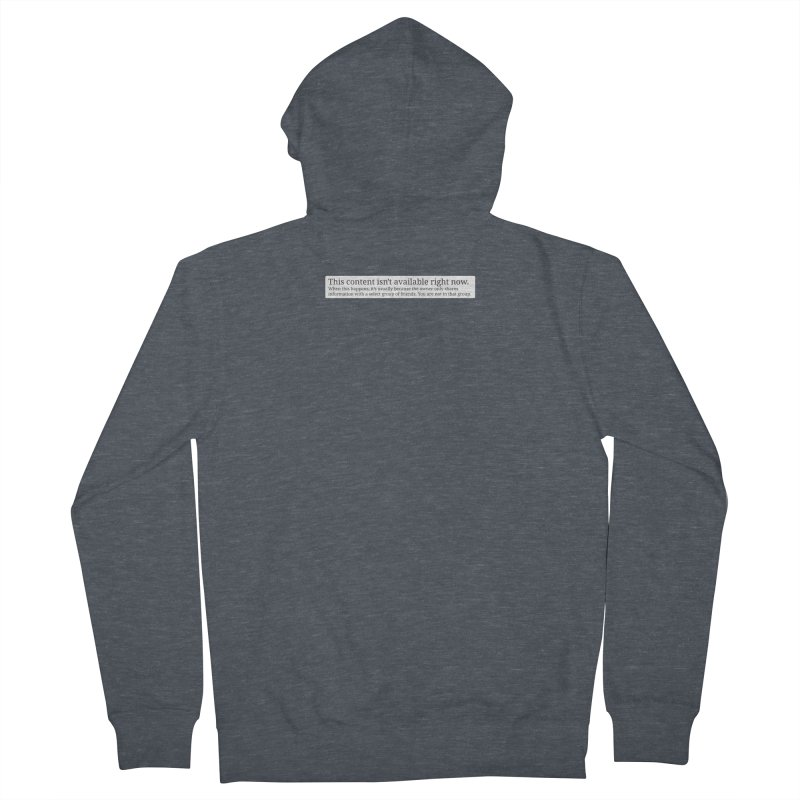 Content Not Available Men's French Terry Zip-Up Hoody by Puttyhead's Artist Shop