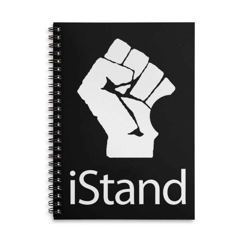 iStand Accessories Lined Spiral Notebook by Puttyhead's Artist Shop