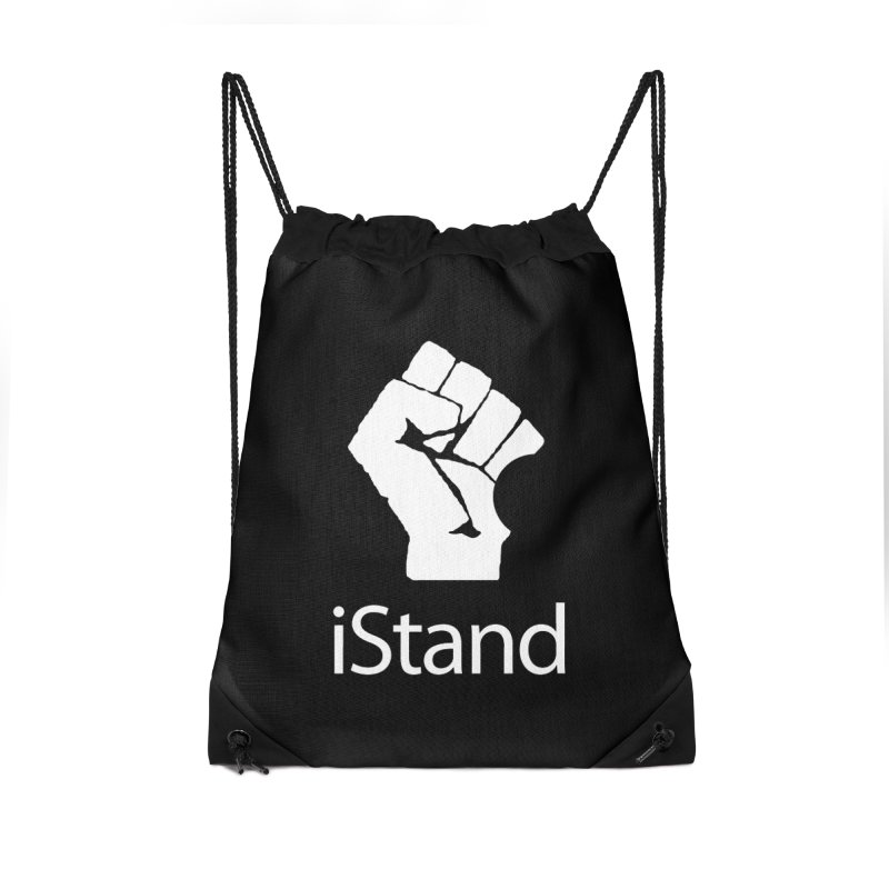 iStand Accessories Drawstring Bag Bag by Puttyhead's Artist Shop