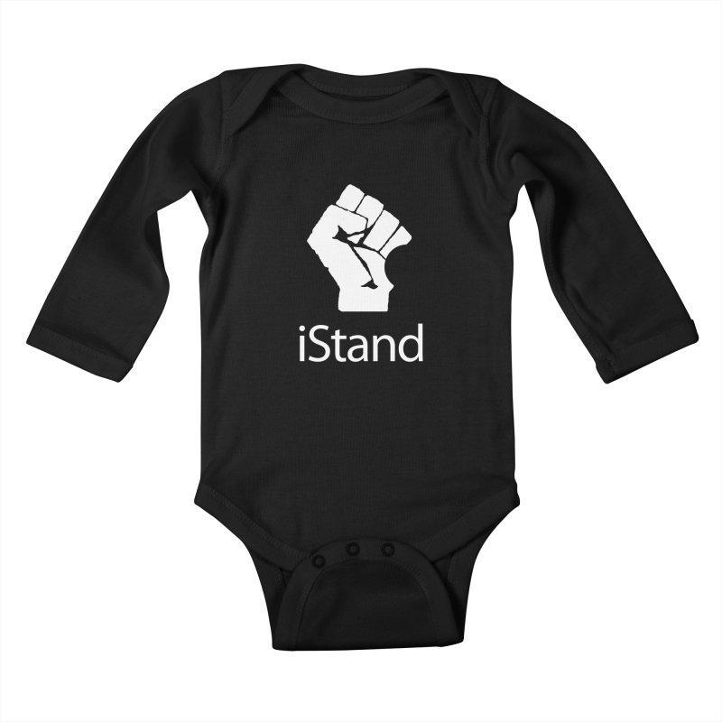 iStand Kids Baby Longsleeve Bodysuit by Puttyhead's Artist Shop