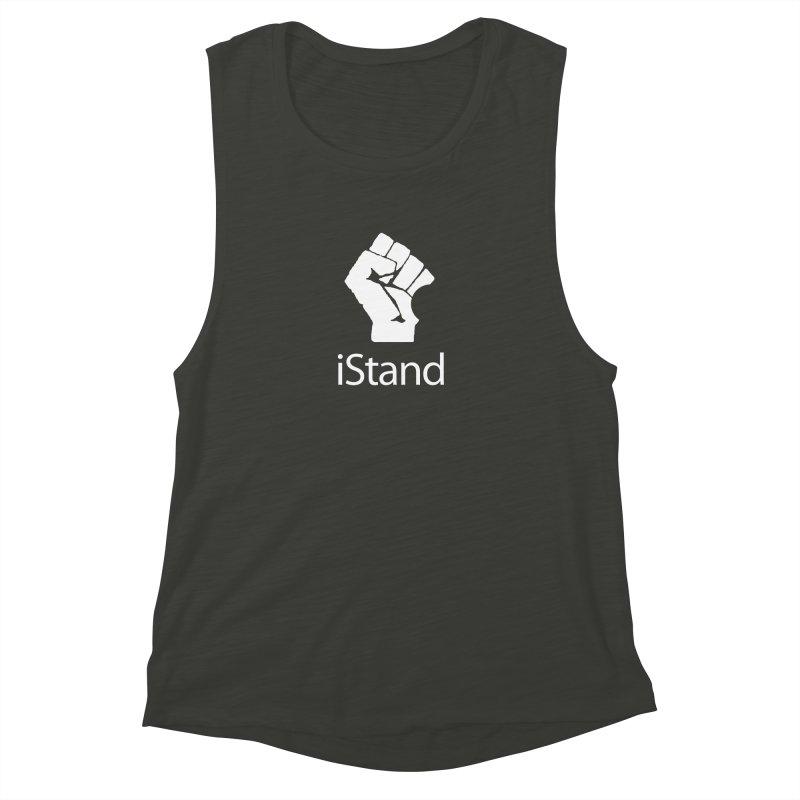 iStand Women's Muscle Tank by Puttyhead's Artist Shop