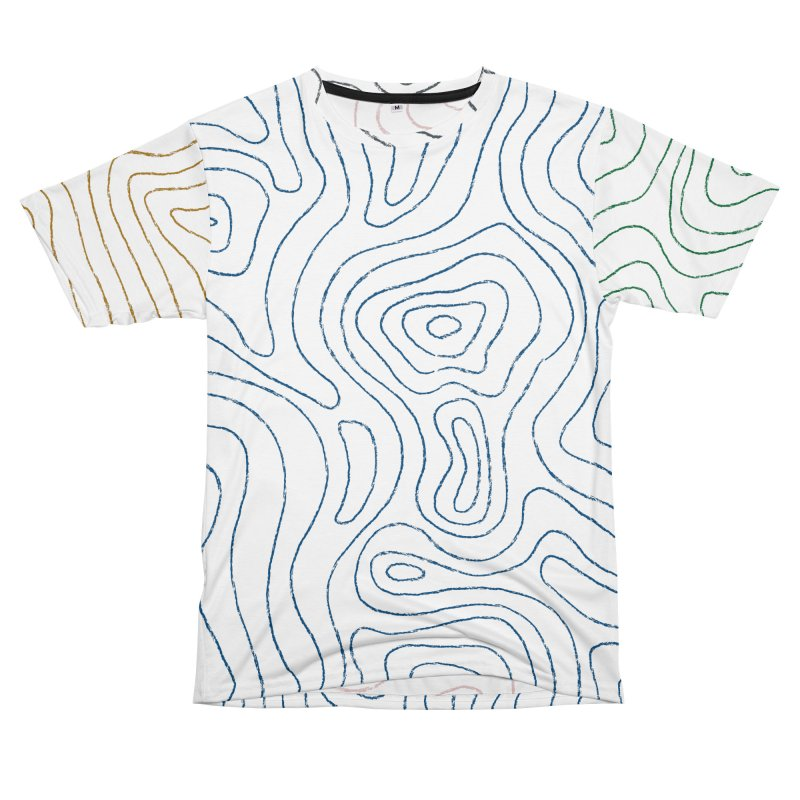 Sketchy Topo Lines Women's Unisex T-Shirt Cut & Sew by Puttyhead's Artist Shop