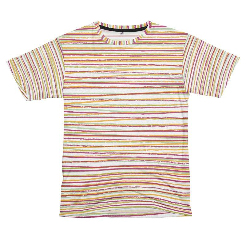 Rough Stripey Women's Unisex French Terry T-Shirt Cut & Sew by Puttyhead's Artist Shop