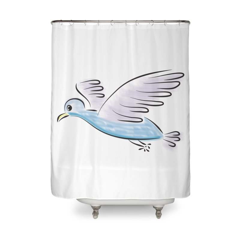 Birdie Home Shower Curtain by Puttyhead's Artist Shop