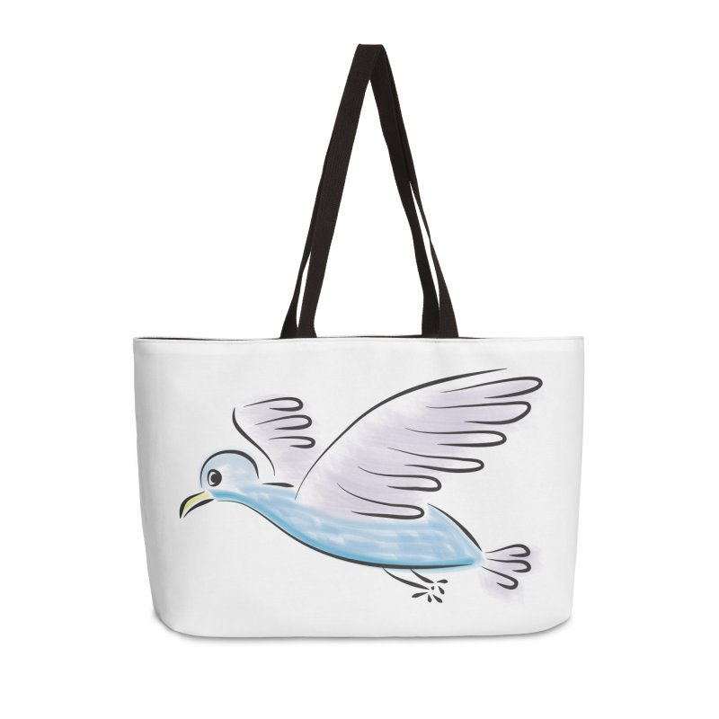 Birdie Accessories Weekender Bag Bag by Puttyhead's Artist Shop