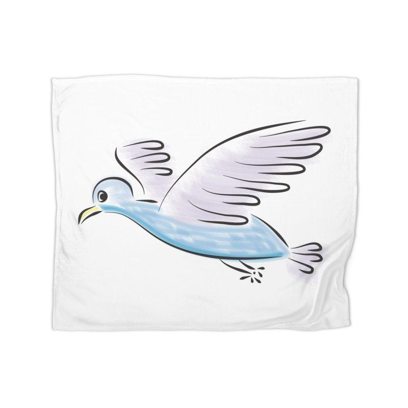 Birdie Home Fleece Blanket Blanket by Puttyhead's Artist Shop