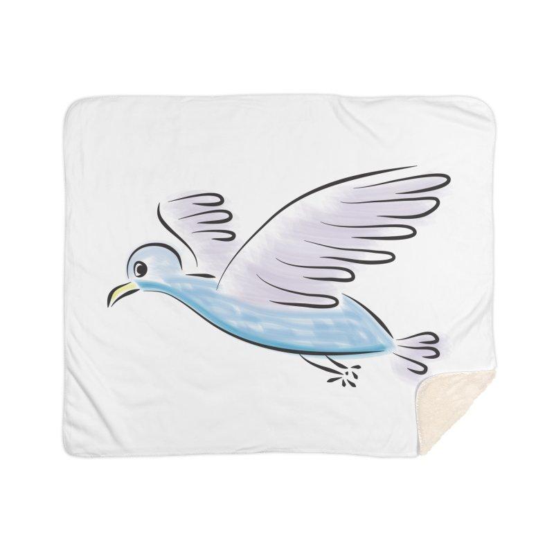 Birdie Home Sherpa Blanket Blanket by Puttyhead's Artist Shop