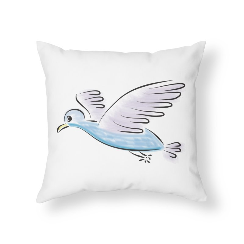 Birdie Home Throw Pillow by Puttyhead's Artist Shop