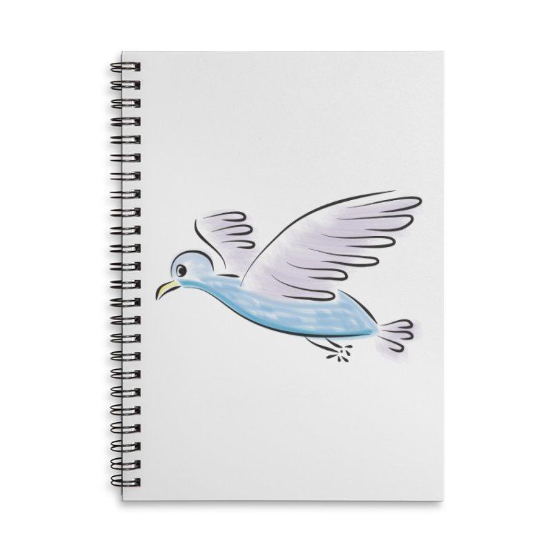 Birdie Accessories Lined Spiral Notebook by Puttyhead's Artist Shop
