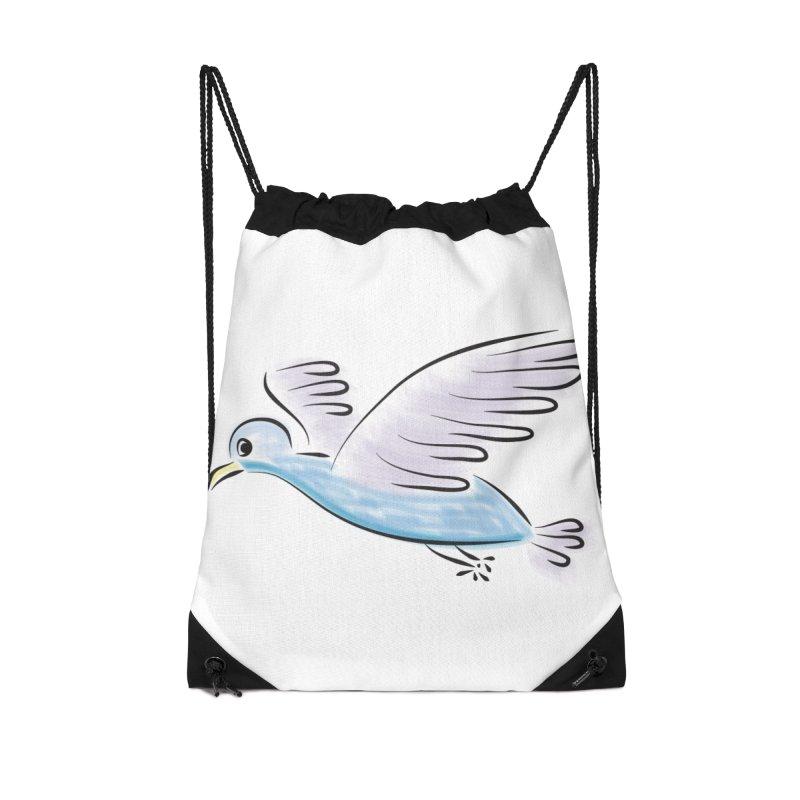 Birdie Accessories Drawstring Bag Bag by Puttyhead's Artist Shop