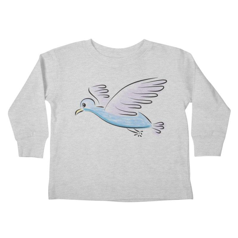 Birdie Kids Toddler Longsleeve T-Shirt by Puttyhead's Artist Shop