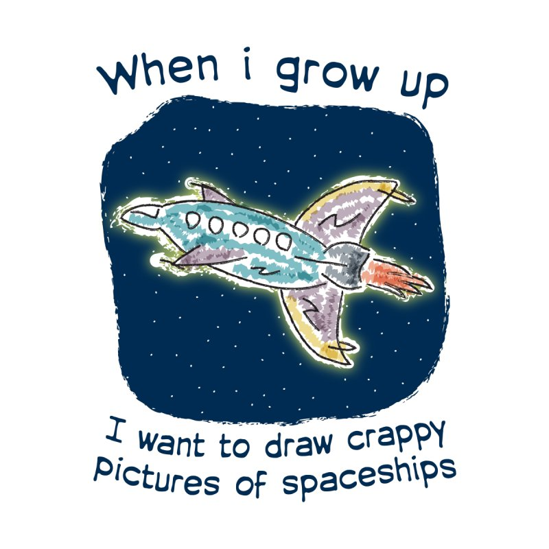 Crappy Spaceships Men's T-Shirt by Puttyhead's Artist Shop