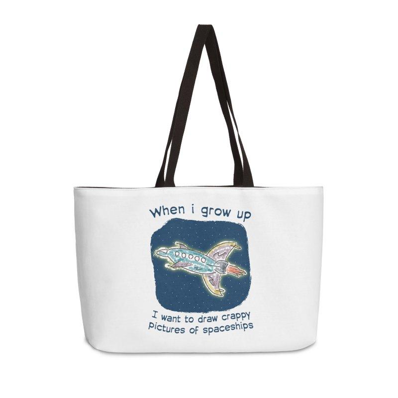 Crappy Spaceships Accessories Weekender Bag Bag by Puttyhead's Artist Shop