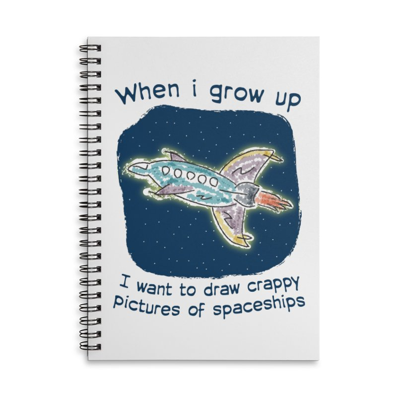Crappy Spaceships Accessories Lined Spiral Notebook by Puttyhead's Artist Shop