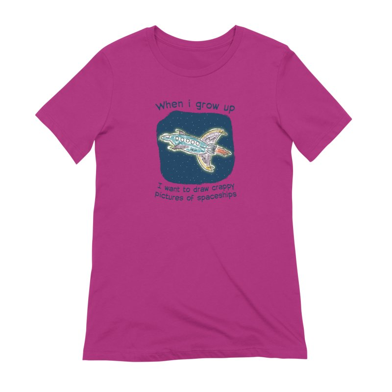 Crappy Spaceships Women's Extra Soft T-Shirt by Puttyhead's Artist Shop