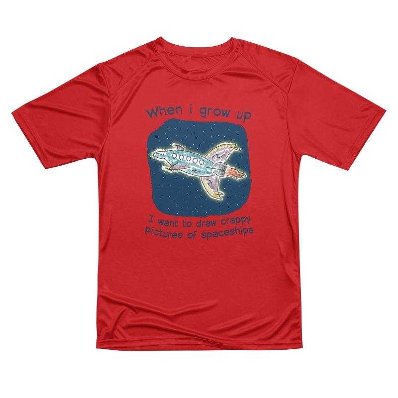 Crappy Spaceships Women's Performance Unisex T-Shirt by Puttyhead's Artist Shop