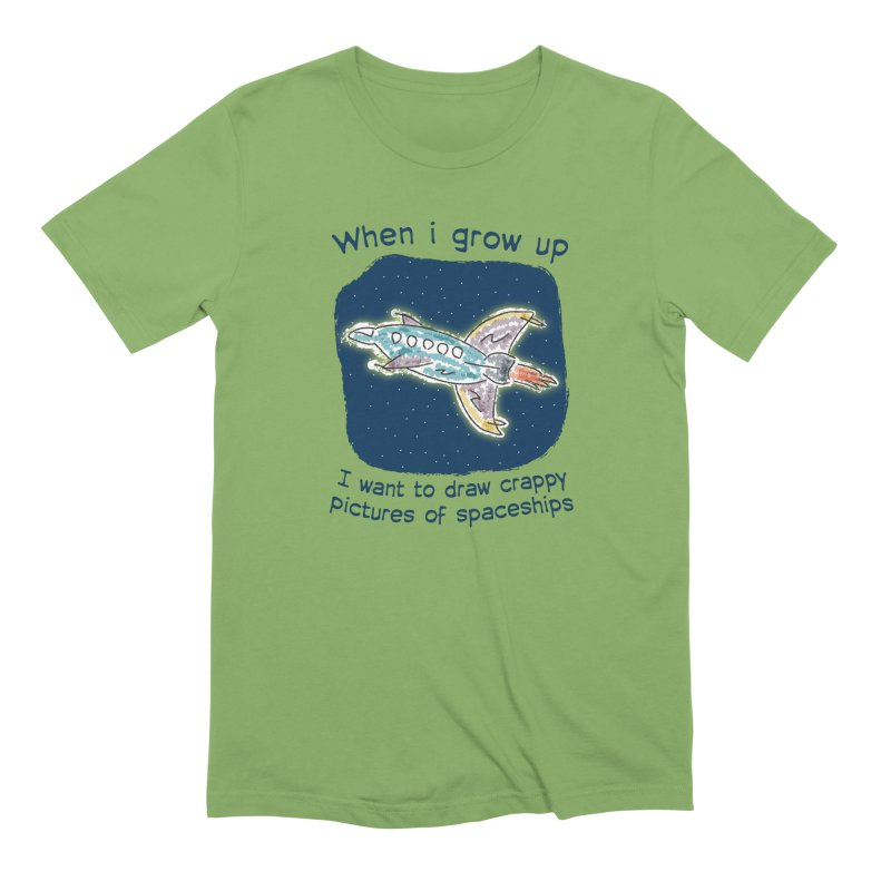Crappy Spaceships Men's Extra Soft T-Shirt by Puttyhead's Artist Shop