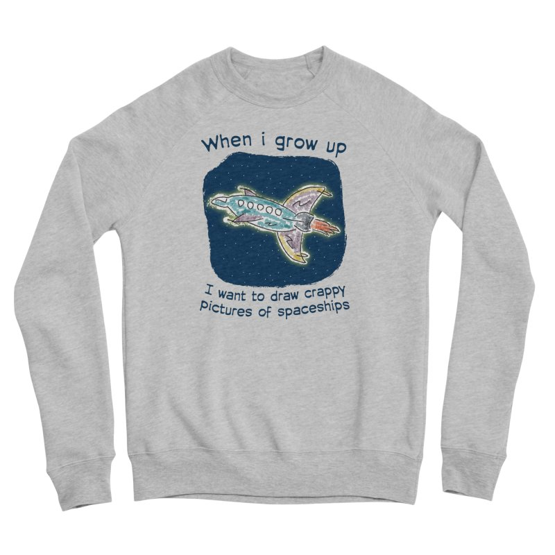 Crappy Spaceships Women's Sponge Fleece Sweatshirt by Puttyhead's Artist Shop