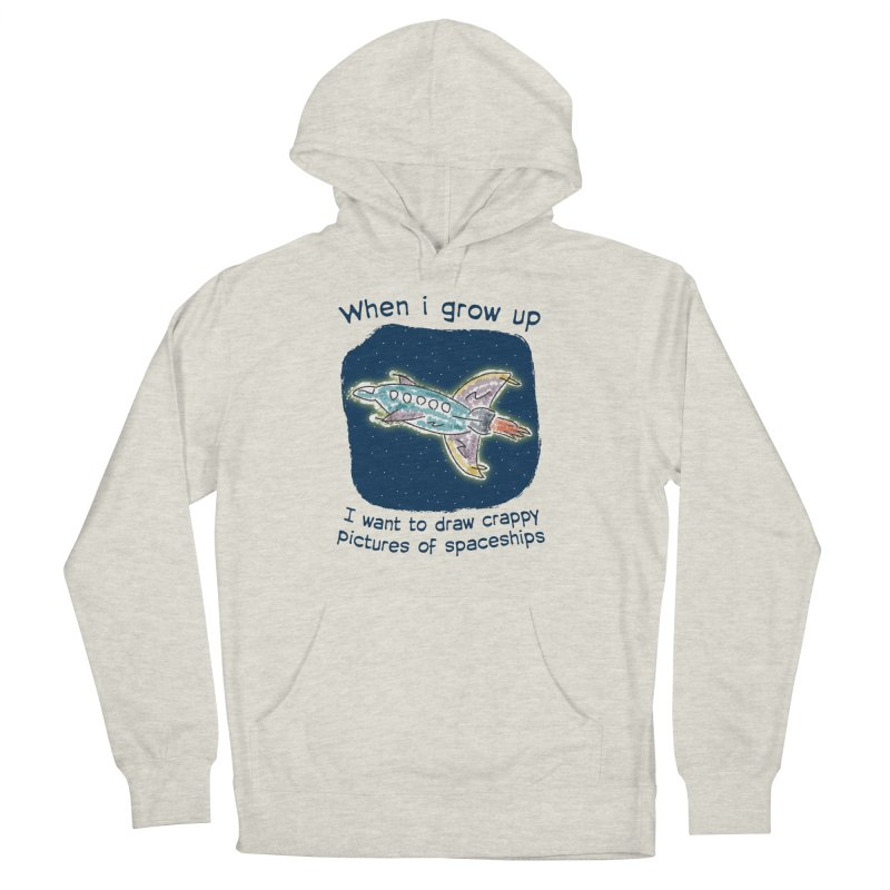 Crappy Spaceships Women's French Terry Pullover Hoody by Puttyhead's Artist Shop