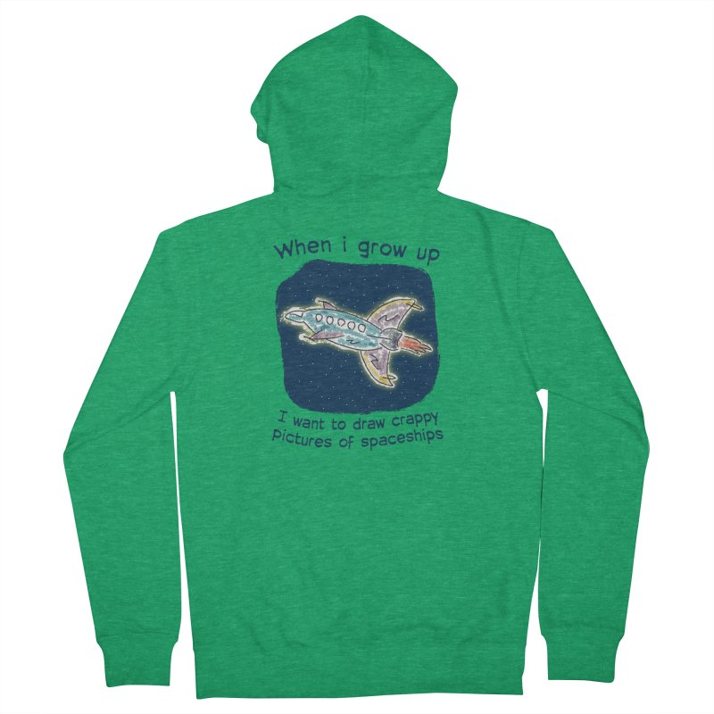 Crappy Spaceships Men's French Terry Zip-Up Hoody by Puttyhead's Artist Shop