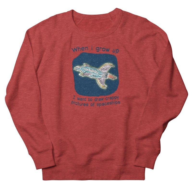 Crappy Spaceships Men's French Terry Sweatshirt by Puttyhead's Artist Shop